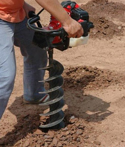 大马力挖坑机_汽油式树坑挖坑机