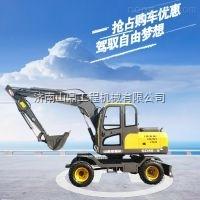 厂家供应小型轮式挖掘机  山鼎厂家胶轮挖掘机型号任你选