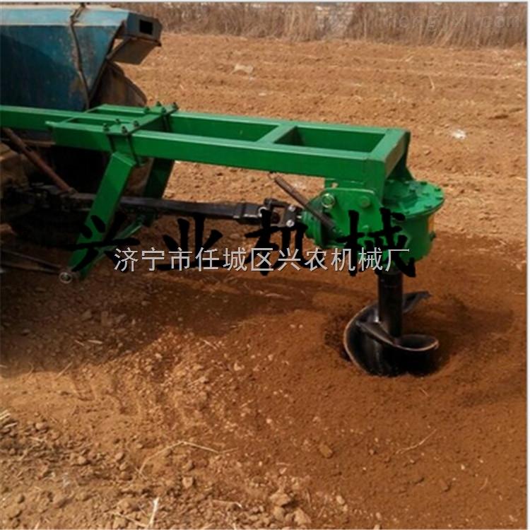 多功能园林绿化挖坑机 专业生产拖拉机植树挖坑机 农用大棚挖坑机